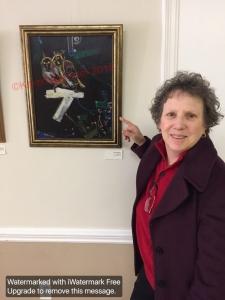 "Karen Kirshner with ""Lovebirds"" ArtsMatter 2016 NH Town Hall"